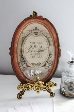 You are beautiful vintage inspired vanity tray