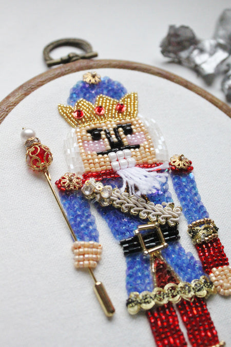 Limited Edition - Nutcracker Hand Beaded Wall Decor