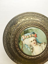 Rare Antique Rococo Lady Gold Ormolu Trinket Box