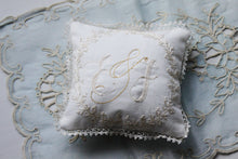Hand Embroidered Monogrammed Pillow