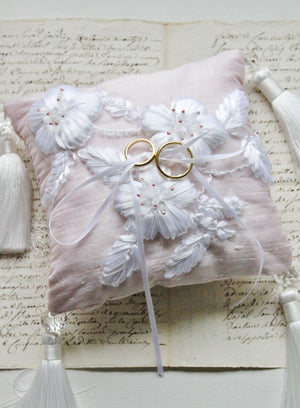 Limited Edition Thai Silk Snowy Spring Ring Pillow DIY Kit
