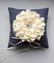 Signature Peony Ring Pillow in Antique Blue and Peony