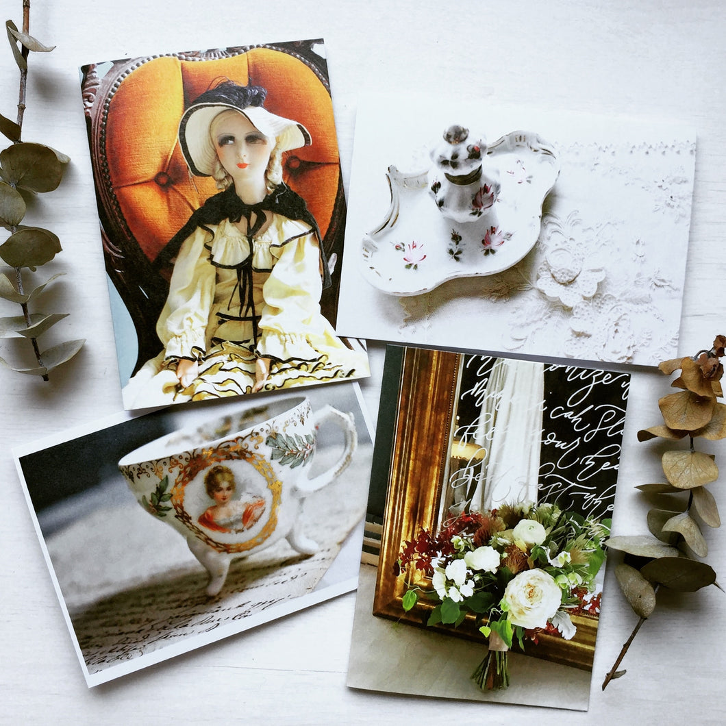 My Vintage Collection Blank Greeting Cards (Set of 4)