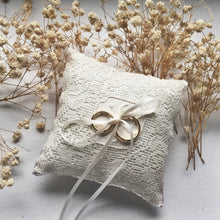 Edwardian Inspired Vintage Lace Ring Pillow