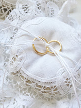 Battenberg Lace Ring Pillow with Dried Lavender Filling