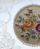 1920s Lace Petit Point Embroidery Vanity Tray