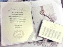 Signature Big Peony Ring Pillow, Marriage Certificate Folder and Wedding Vow Cards Heirloom Set