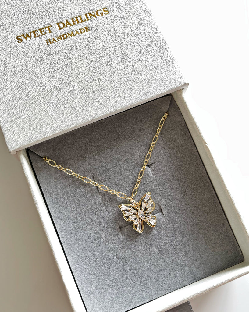 My heart aflutter Butterly necklace – The Sweet Dahlings Company
