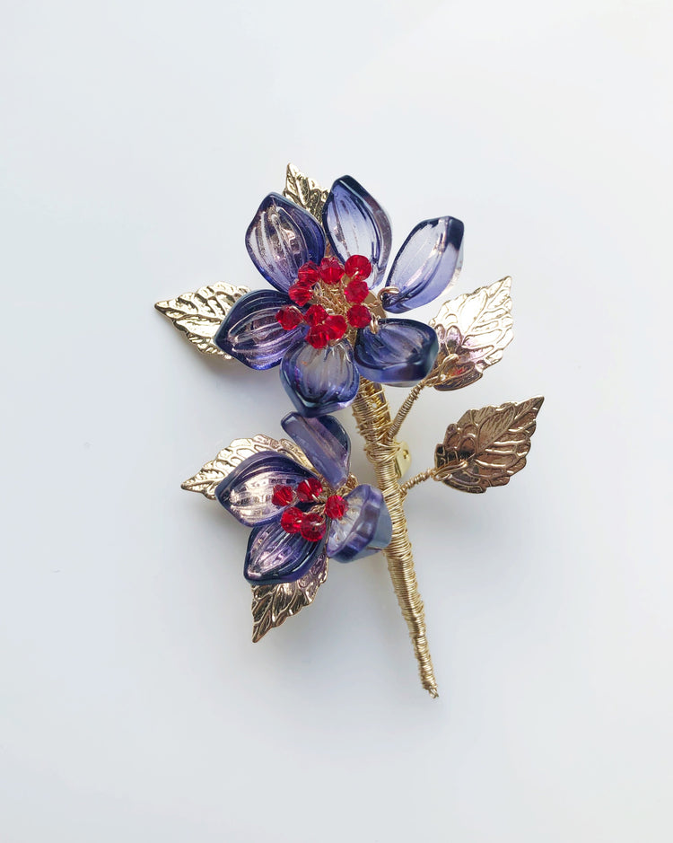 Christmas wonder floral bouquet brooch