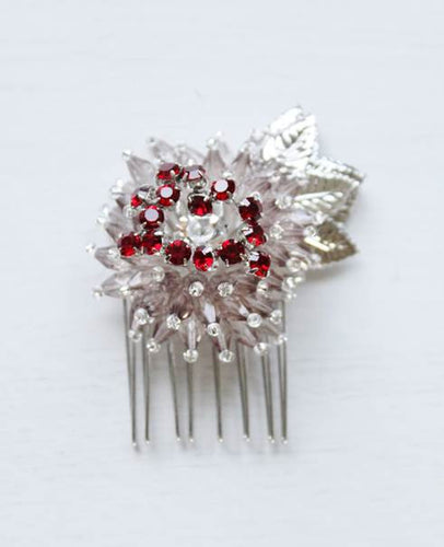 Dahlia In Love Hair Slide