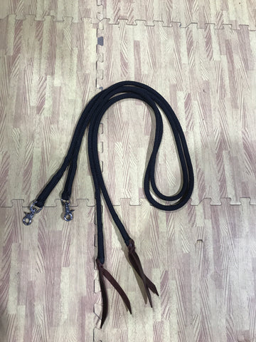 Split reins with snaps