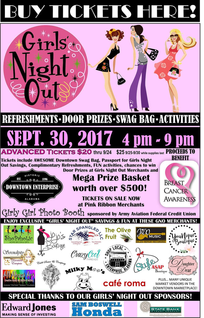 Girls Night Out to Benefit Breast Cancer Awareness