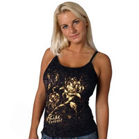 Bleach Roses Burnout Ladies Tank Top