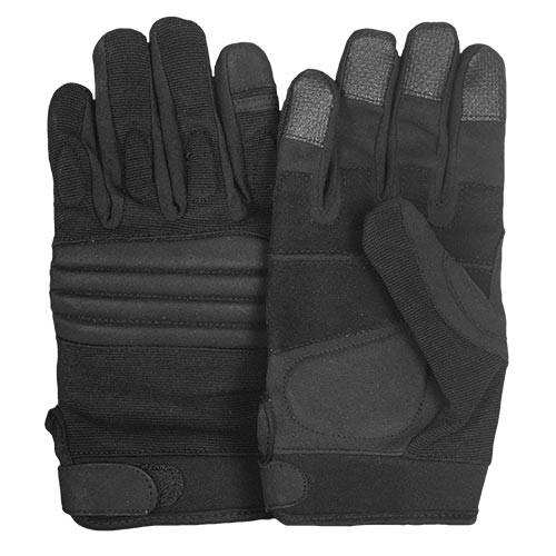Flex Knuckle Tactical Black Raid Gloves - Star Spangled 1776