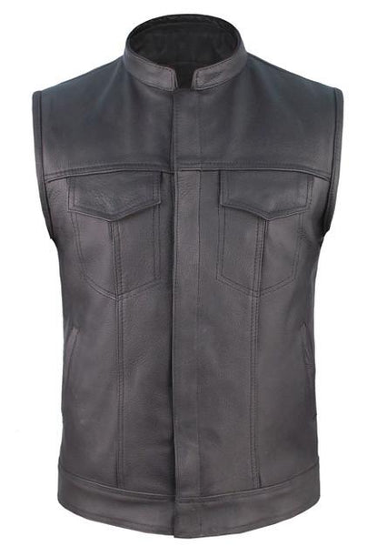 Motorcycle Men's Club Leather Vest