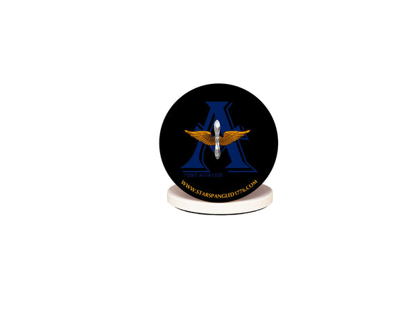 Army Aviation Insignia Logo Beverage Coaster