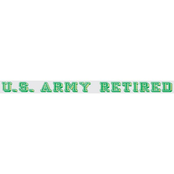 U.S. Army Retired Window Strip Decal - Star Spangled 1776