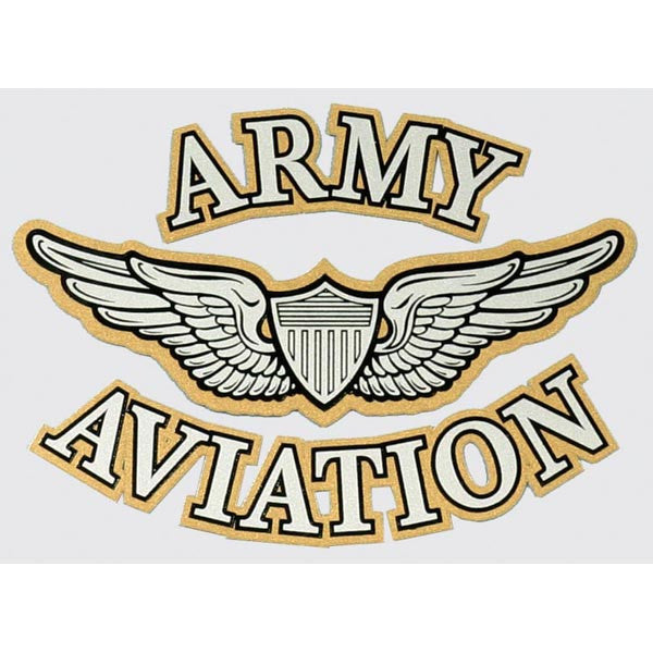 Army Aviation Wings Gold Outline Decal - Star Spangled 1776