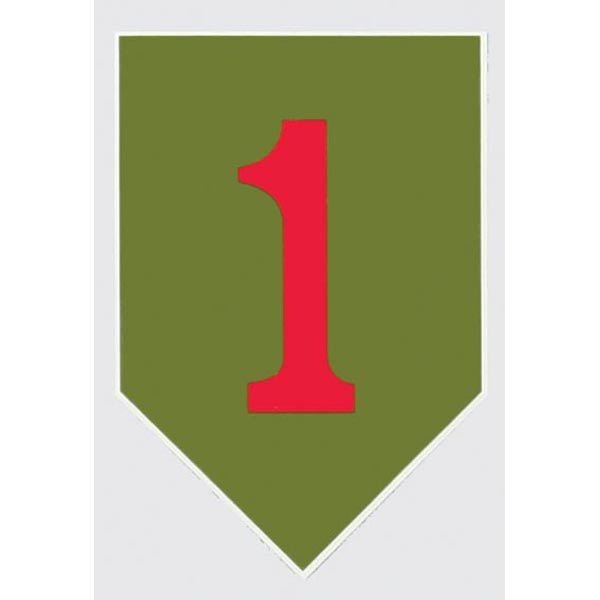 "Army 1st Infantry Division ""Big Red One"" Decal - Star Spangled 1776"