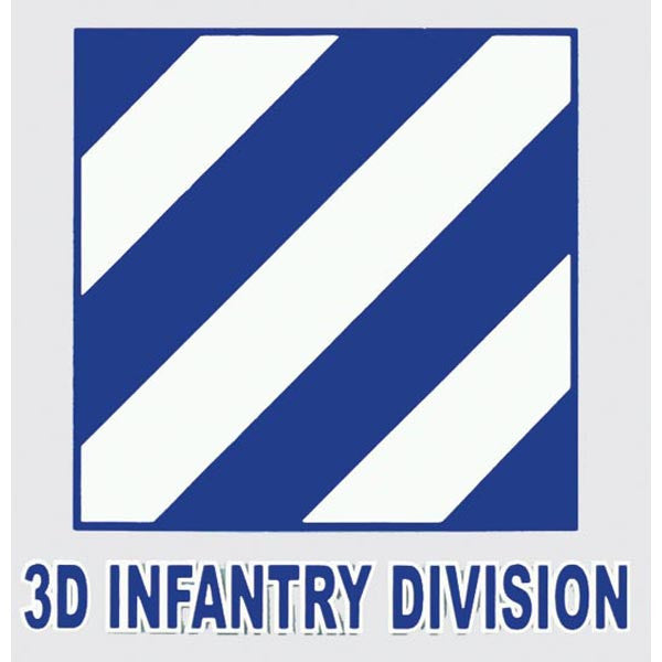 Army 3rd Infantry Division Decal - Star Spangled 1776