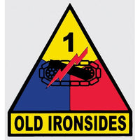"1st Armored Division ""Old Ironsides"" Army Military Decal - Star Spangled 1776"