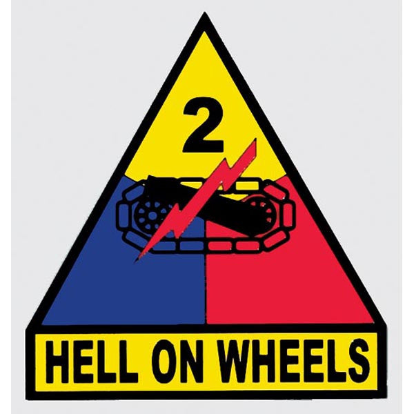 "2nd Armored Division ""Hell On Wheels"" Army Military Decal - Star Spangled 1776"