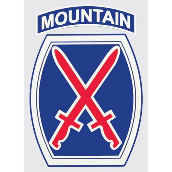 Army 10th Mountain Division Decal - Star Spangled 1776