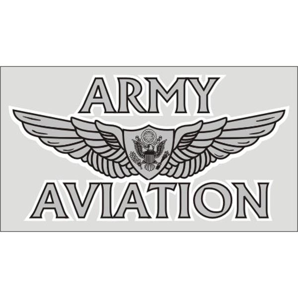 Army Aviation Wings Decal - Star Spangled 1776