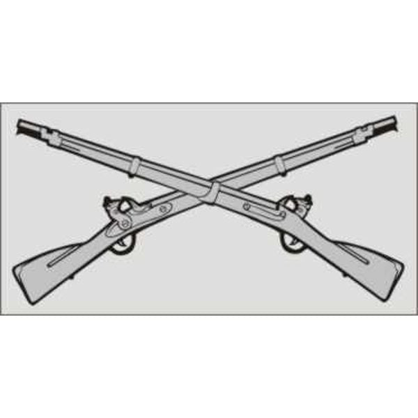 Infantry Crossed Rifles Decal - Star Spangled 1776