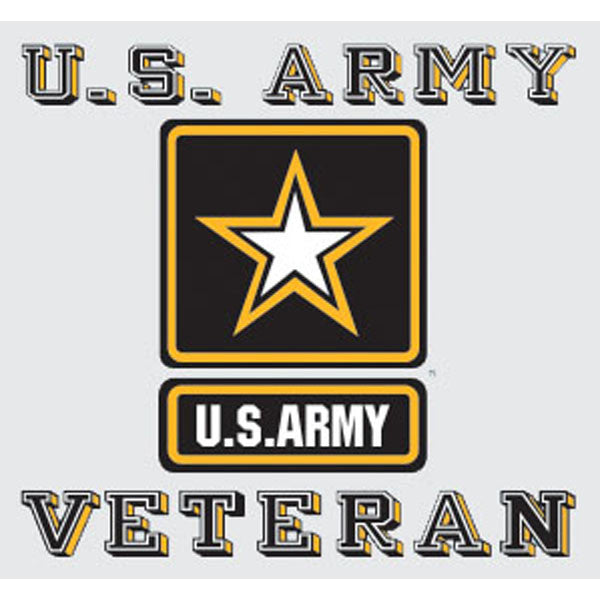 Veteran with U.S. Army Star Logo Decal - Star Spangled 1776