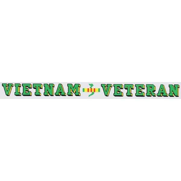 Vietnam Veteran Window Strip Decal - Star Spangled 1776