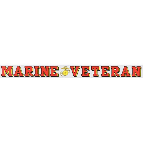 USMC Veteran Window Strip Decal - Star Spangled 1776