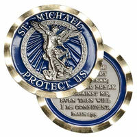 ST Michael Protects Us 1.75 In Challenge Coin - Star Spangled LLC