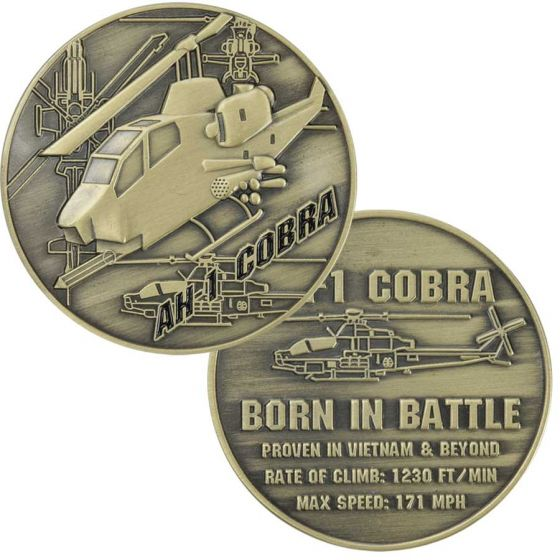"AH-1 Cobra Helicopter 1.75"" Challenge Coin - Star Spangled LLC"
