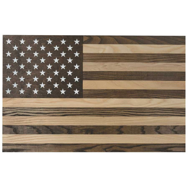 USA Wooden Hanging Wall Flag - Star Spangled LLC