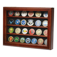 Challenge Coin Wall Display- Walnut - Star Spangled LLC