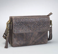 Distressed Buffalo Leather Concealed Carry Shoulder Clutch - Star Spangled LLC