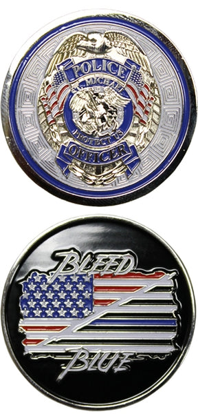 Bleed Blue Challenge Coin - Star Spangled LLC