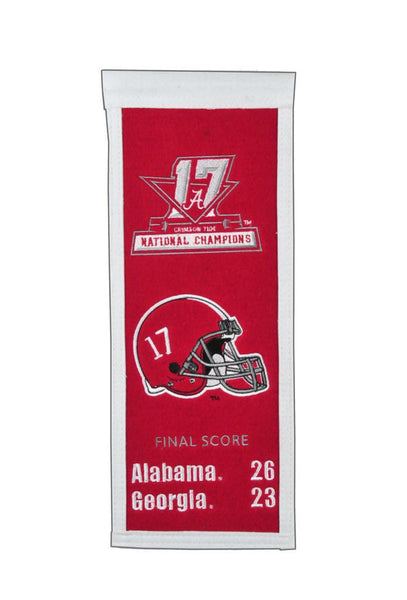 Alabama Crimson Tide 2017 NCAA Football Champs Mini Banner - Star Spangled LLC