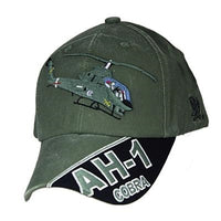 Army AH-1 COBRA Helicopter Washed Cap OD - Star Spangled LLC