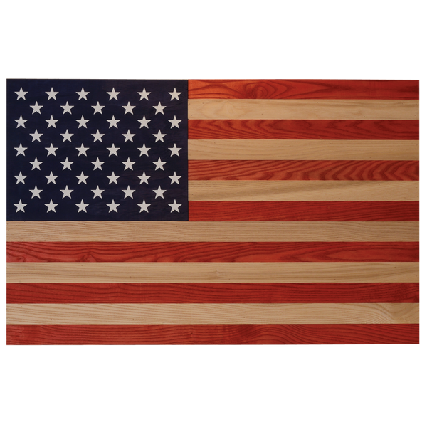 USA Made Wood Colored Washed Flag - Star Spangled LLC