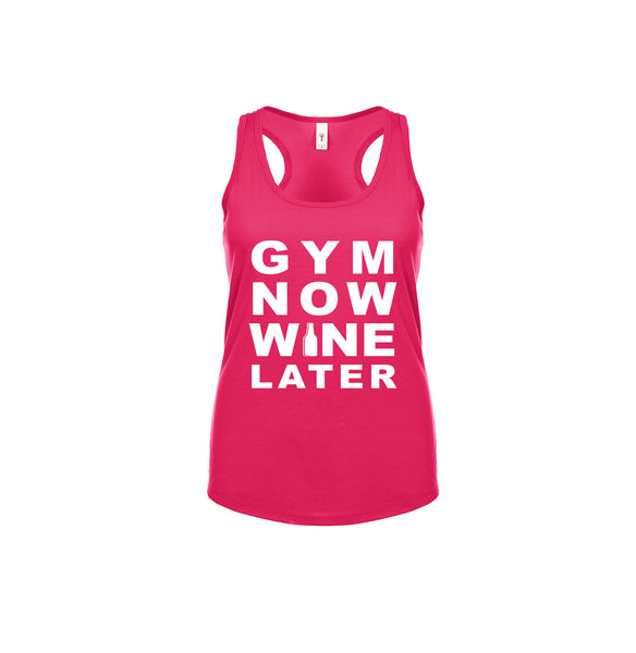 Gym Now Wine Later Razorback Tank Top - Star Spangled LLC