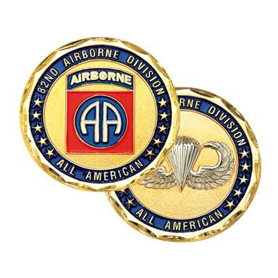 Army 82nd Airborne Division All American Challenge Coin - Star Spangled LLC