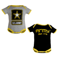 Army Licensed Infant Bodysuits 2pk
