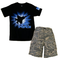 Air Force ABU Child Short & Shirt 2 PC Set