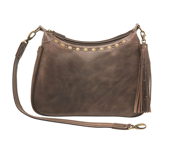 Buffalo Leather Hobo Bag
