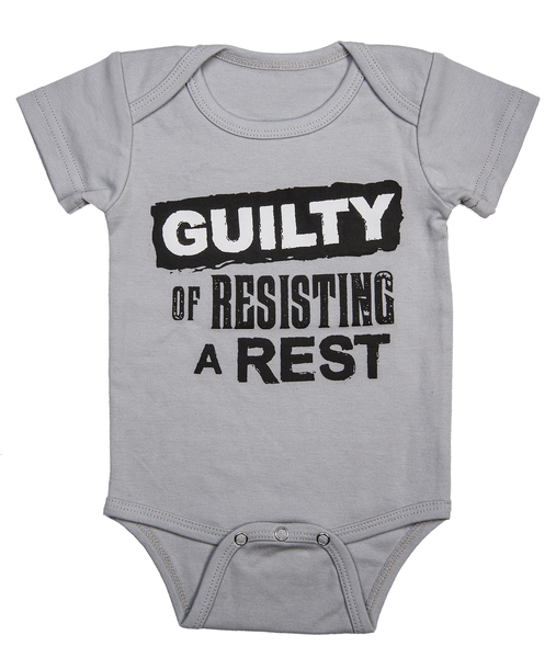Guilty Of Resisting A Rest Infant One-piece Diaper Shirt