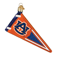 Auburn Tigers Pennant Glass Christmas Ornament