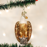 Bald Eagle Glass Christmas Ornament
