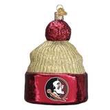 Florida State Seminoles Beanie Glass Christmas Ornament